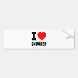 I Love Snooker Car Bumper Sticker