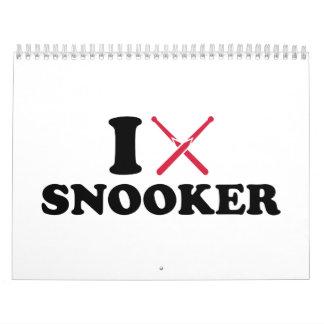 I love Snooker cue Calendar