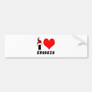 I Love Snooker Design Car Bumper Sticker