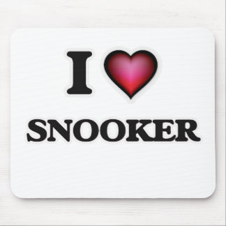 I Love Snooker Mouse Pad