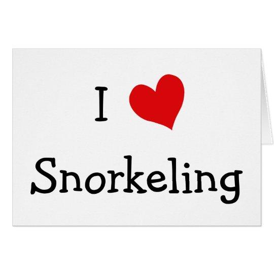 I Love Snorkeling Card