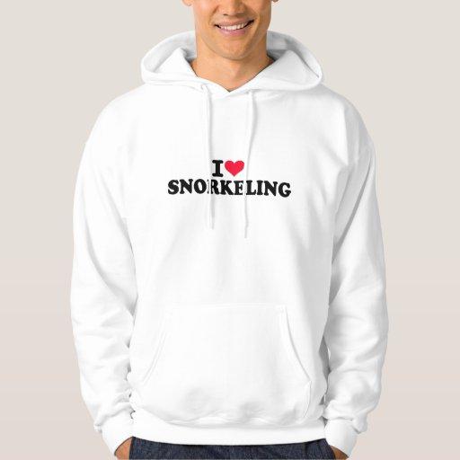 I love Snorkeling Hoodies