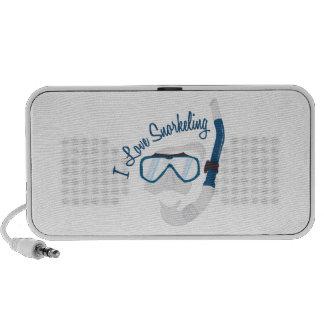 I Love Snorkeling iPod Speakers