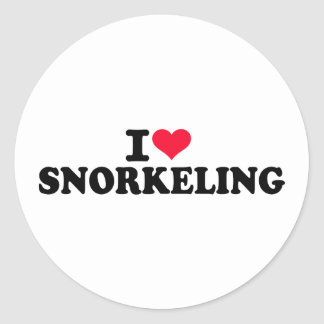 I love Snorkeling Round Stickers