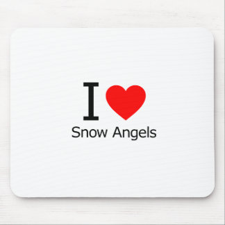 I Love Snow Angels Mouse Pad