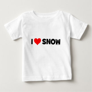 I Love Snow Baby T-Shirt