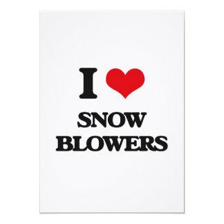 I love Snow Blowers 5x7 Paper Invitation Card