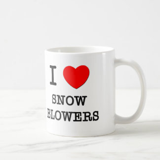 I Love Snow Blowers Classic White Coffee Mug