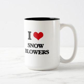 I love Snow Blowers Two-Tone Coffee Mug