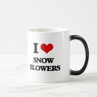 I love Snow Blowers 11 Oz Magic Heat Color-Changing Coffee Mug