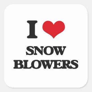 I love Snow Blowers Square Sticker