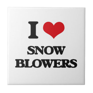 I love Snow Blowers Small Square Tile