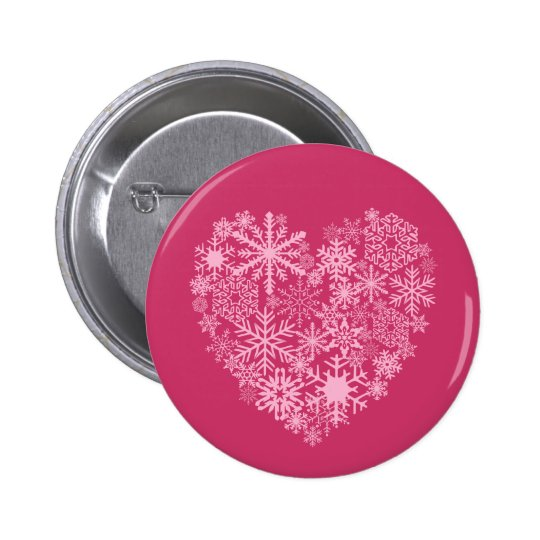 I Love Snow Button