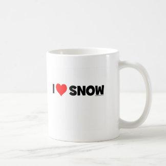I Love Snow Classic White Coffee Mug