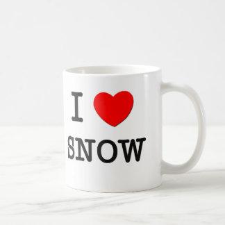 I Love Snow Coffee Mug