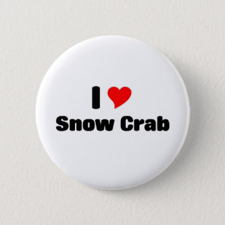 I love Snow crab Button