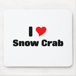 I love Snow crab Mouse Pad