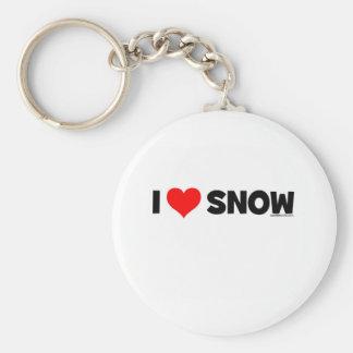 I Love Snow Keychain