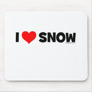 I Love Snow Mouse Pad