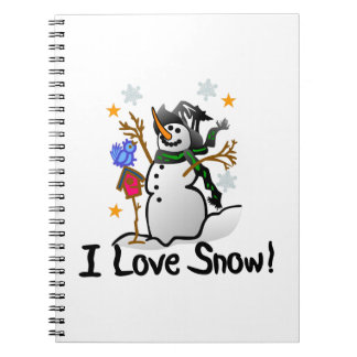 I Love Snow Spiral Note Book