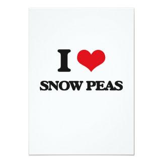 I love Snow Peas 5x7 Paper Invitation Card