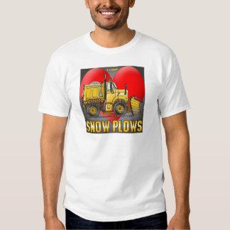 I Love Snow Plow Trucks Mens T-Shirt