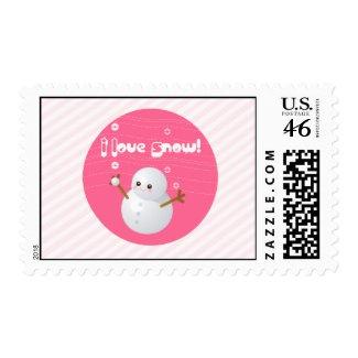 I Love Snow Postage stamp
