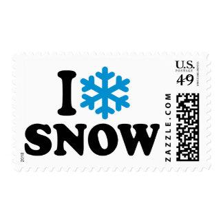 I love snow postage stamps
