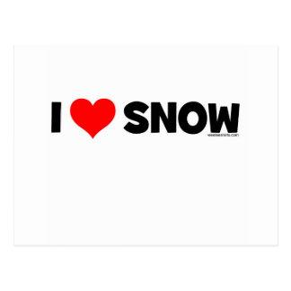 I Love Snow Postcard