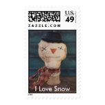 I Love Snow Stamp