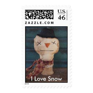 I Love Snow Stamp stamp