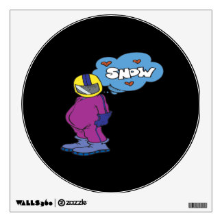 I Love Snow Wall Graphic