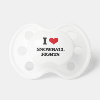 I love Snowball Fights BooginHead Pacifier