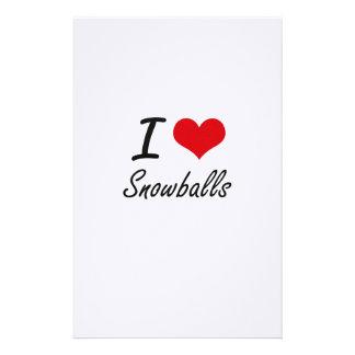 I love Snowballs Stationery