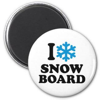 I love Snowboard Fridge Magnet