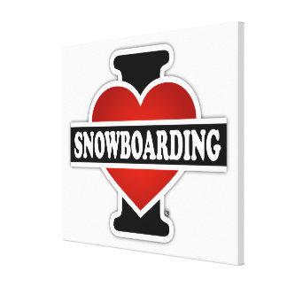 I Love Snowboarding Canvas Print