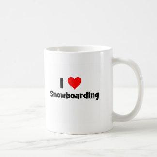 I Love Snowboarding Classic White Coffee Mug