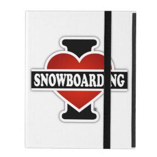 I Love Snowboarding iPad Covers