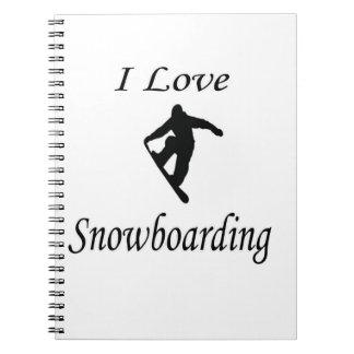 I Love Snowboarding Spiral Notebook