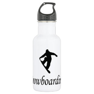I Love Snowboarding Stainless Steel Water Bottle