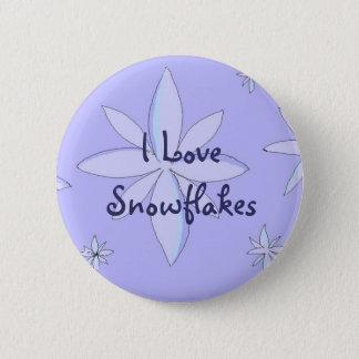I Love Snowflakes Pinback Button