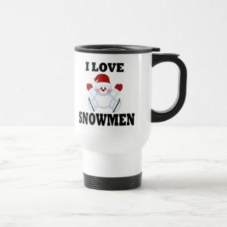 I Love Snowmen Coffee Mugs