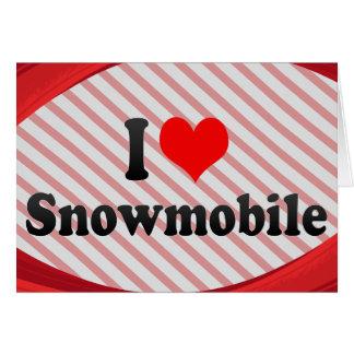 I love Snowmobile Card