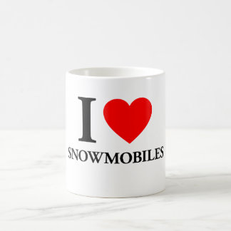 I Love Snowmobiles Coffee Mug