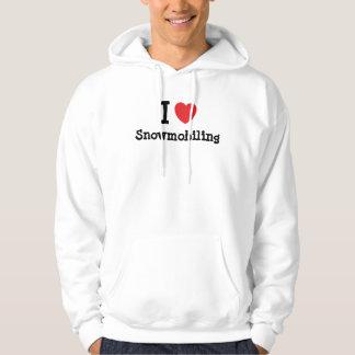 I love Snowmobiling heart custom personalized Hooded Sweatshirt