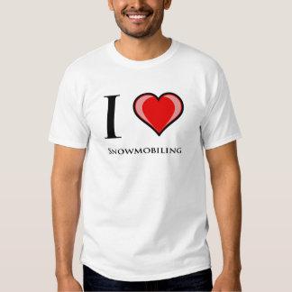 I Love Snowmobiling T Shirt