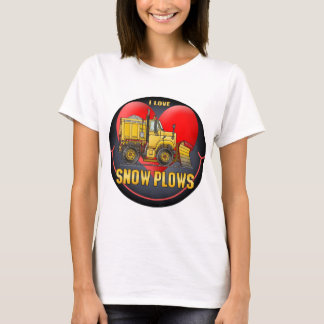 I Love Snowplows Womens T-Shirt