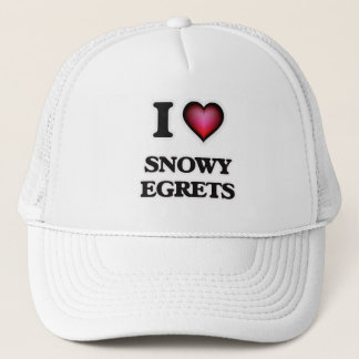 I Love Snowy Egrets Trucker Hat