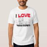 I Love Snowy Egrets Tshirts