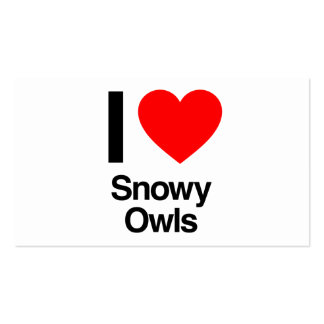 i love snowy owls business cards